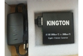 Media converter 10/100/1000MP Single mode Kington